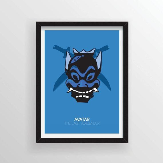 Blue Spirit From Avatar The Last Airbender Minimal Poster Etsy Minimal Poster The Last Airbender Poster