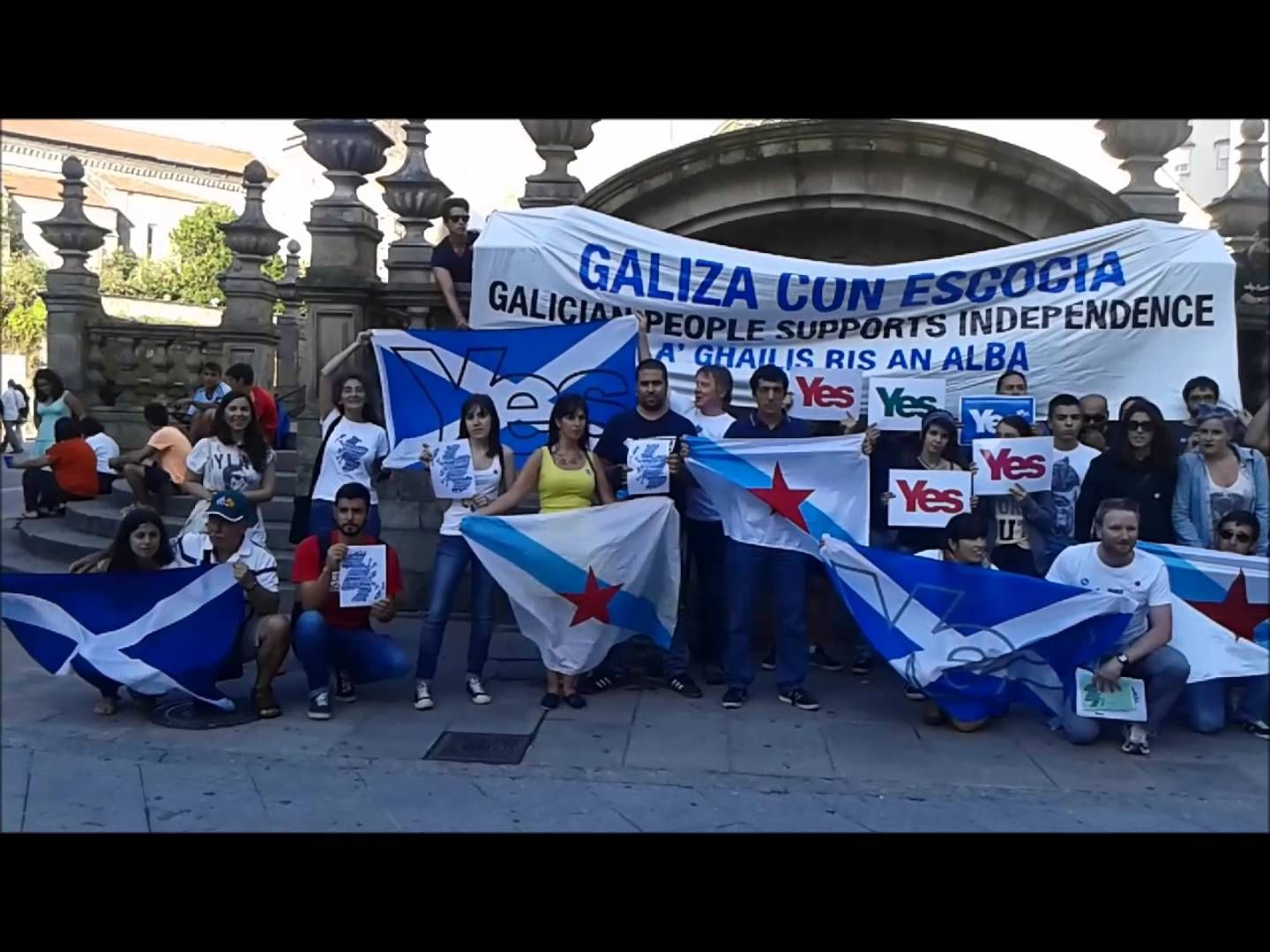 Solidarity with Scotland from Pontevedra