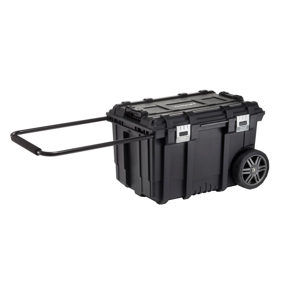 Husky 26 In Connect Rolling Tool Box Black 228224 The Home Depot Mobile Tool Box Tool Box Rolling Tool Box