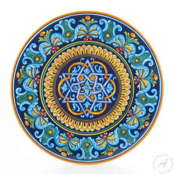Italian Ceramic Wall Disk by Ricciarelli Deruta | thatsArte.com  sc 1 st  Pinterest & Italian Ceramic Wall Disk by Ricciarelli Deruta | thatsArte.com ...