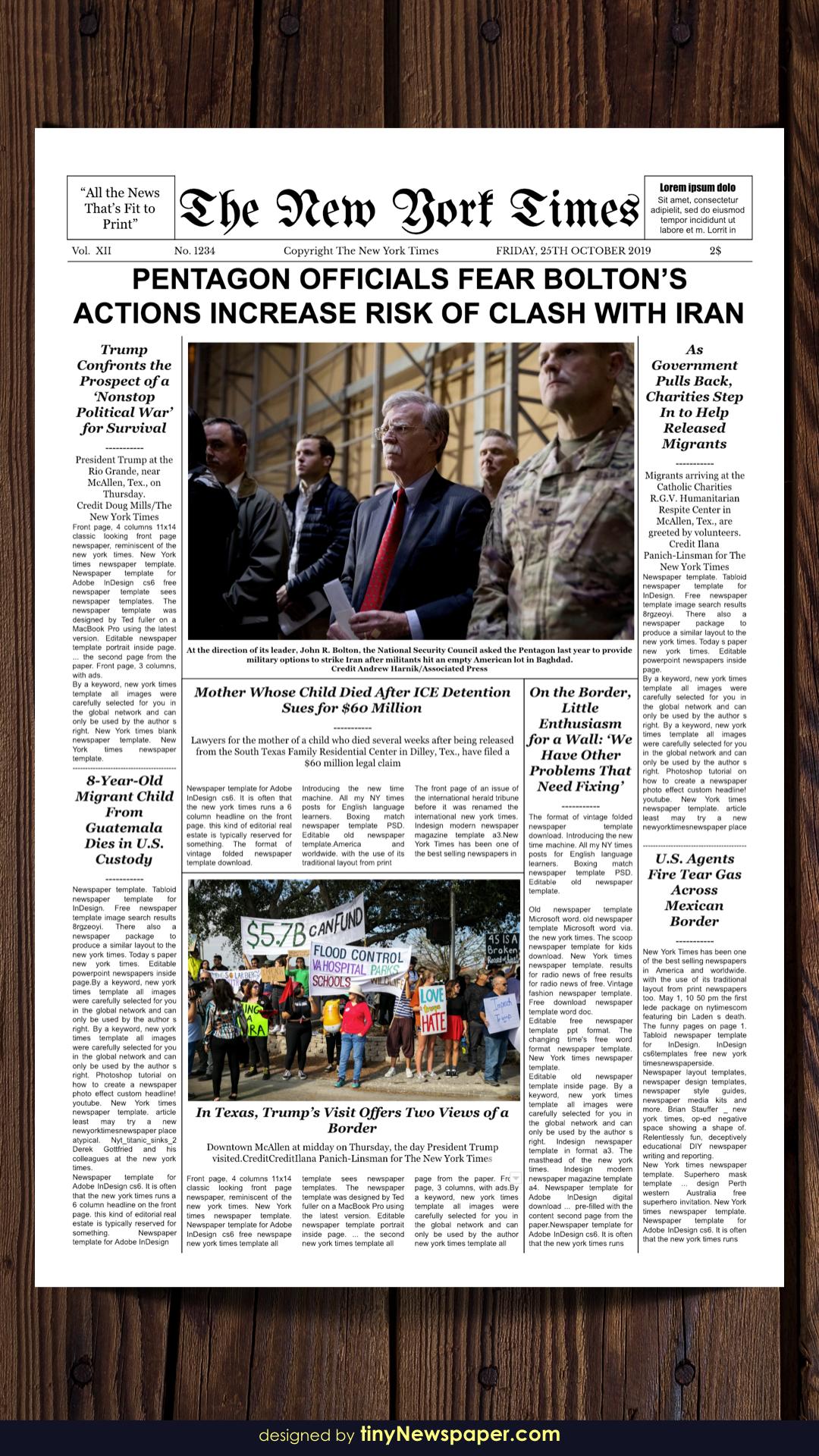 New York Times Newspaper Template Google Docs Newspaper Template Newspaper Layout Newspaper
