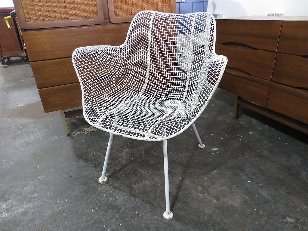 Russel Woodard Sculptura Wire Mesh Patio Lounge Chair Bertoia Eames Mid  Century | EBay