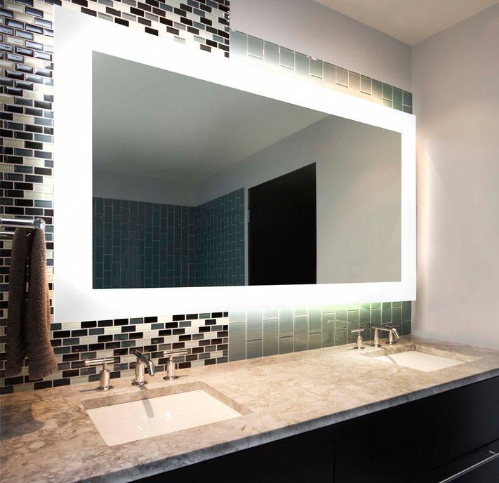 mirror with diffused light Bathroom Pinterest - Meuble Avec Miroir Pour Salle De Bain