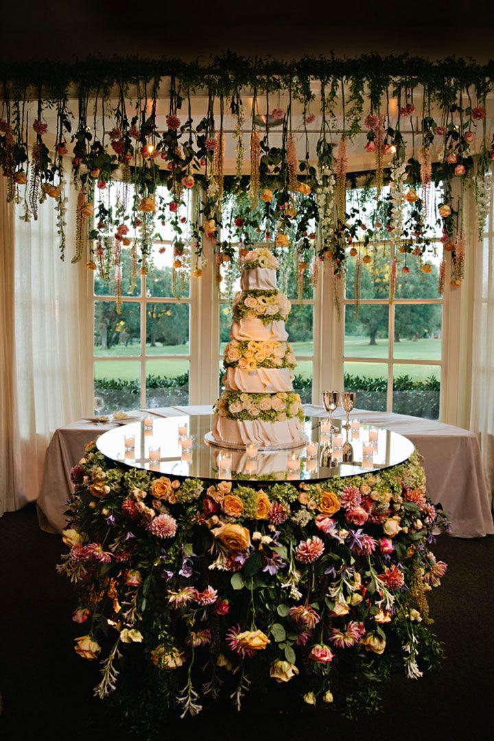 Wedding Cakes Hanging Flowers Wedding Wedding Cake Table Wedding Cake Display