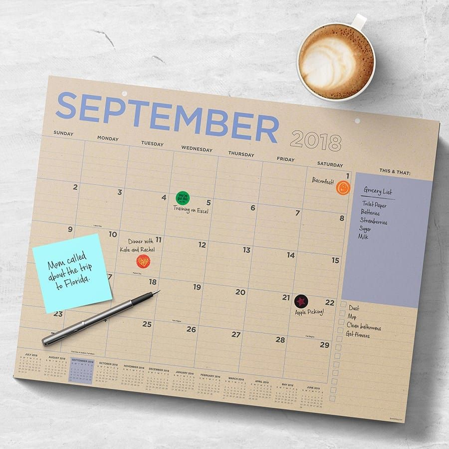 Large Desk Calendars 4 Designs Fun Finds Desk Calendars Desk