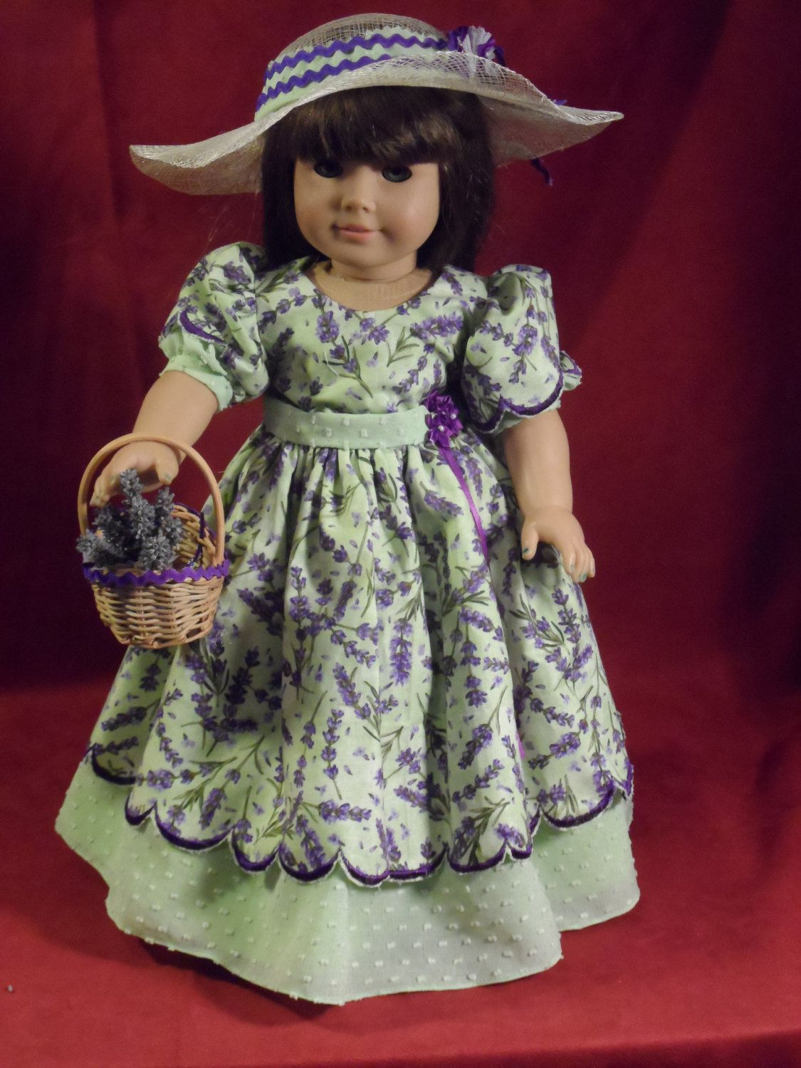 1fdbc44fa4b Lavender embroidered summer dress party dress OOAK for your. Find this Pin  and more on Historical costumes For American Girl Dolls ...