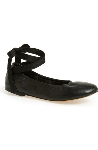 6f60f301d Free shipping and returns on Steve Madden 'Meow' Ribbon Tie Flat (Women) at  Nordstrom.com. Wraparound ribbon ties heighten the ballet influence of a  soft, ...