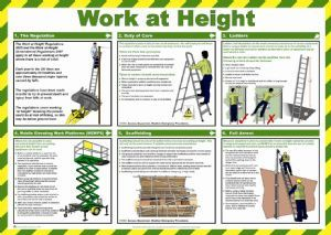 WORK AT HEIGHT HEALTH AND SAFETY POSTER | Health and Safety