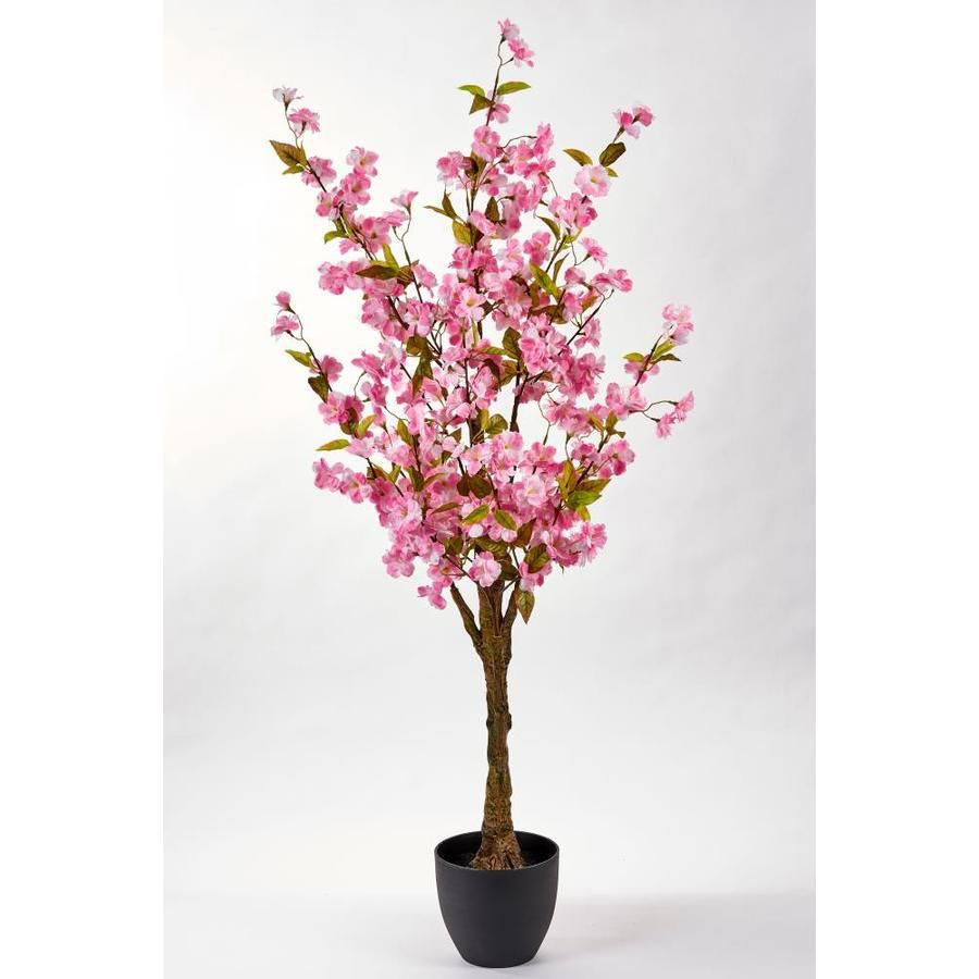 Worth Imports 51 In Pink Indoor Artificial Silk Tree Trees Lowes Com Potted Trees Blossom Trees Ficus Tree