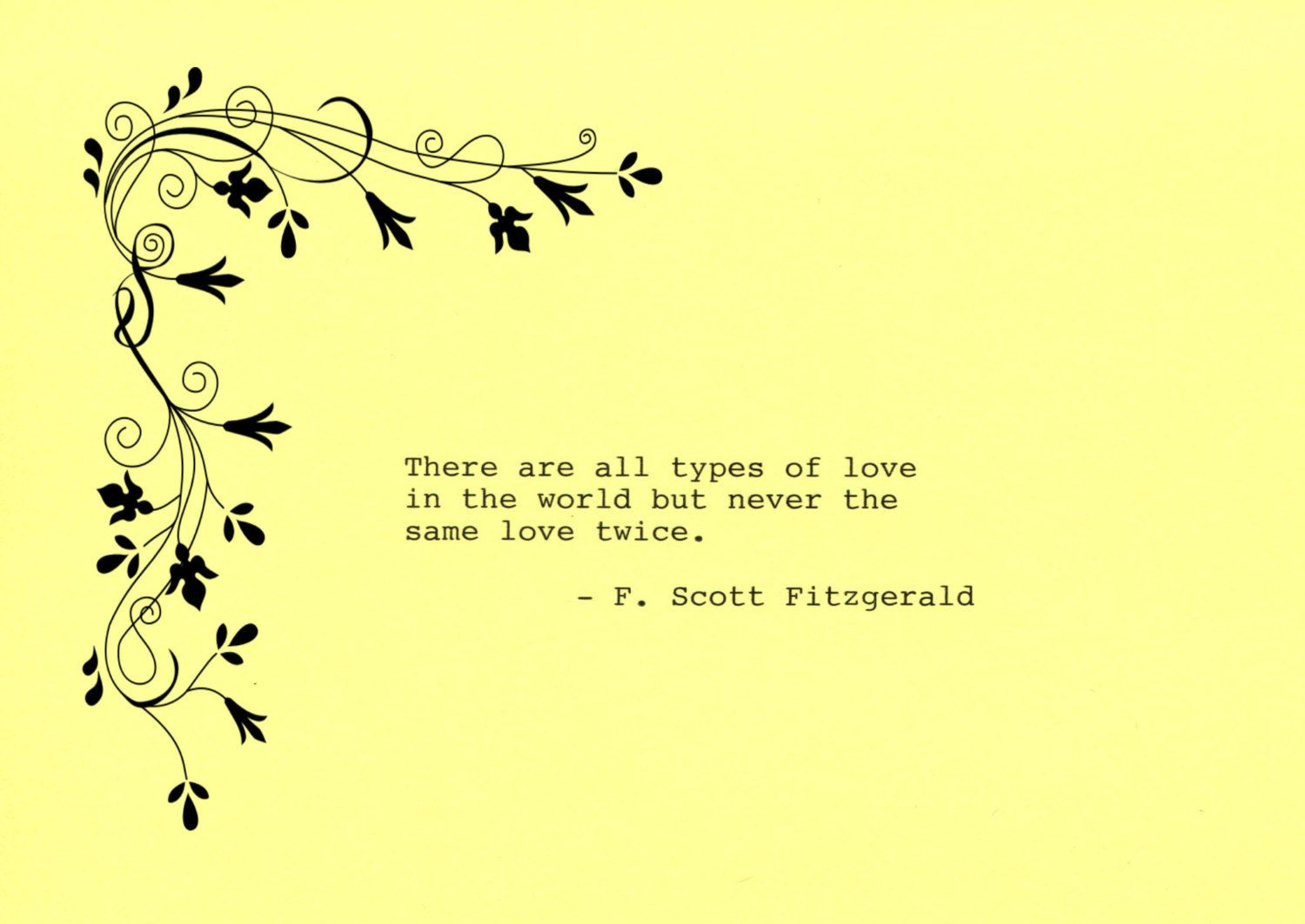 F. Scott Fitzgerald Quote Made on Typewriter Art Quote Wall Art ...