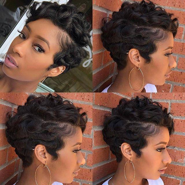 Cute Waves Short Hair Styles Pixie Short Hair Styles Natural Hair Styles