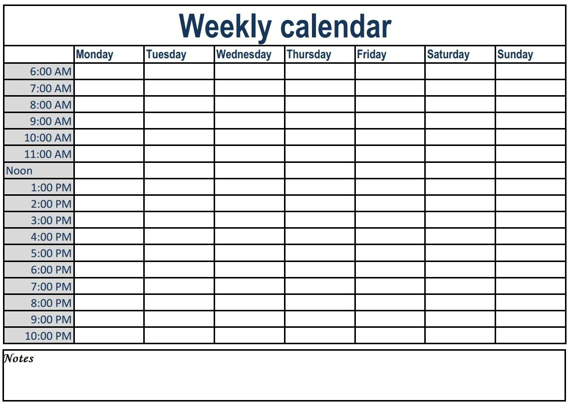 weekly calendar with time slots  weeklyplanner  calendars  template  weeklycalendar