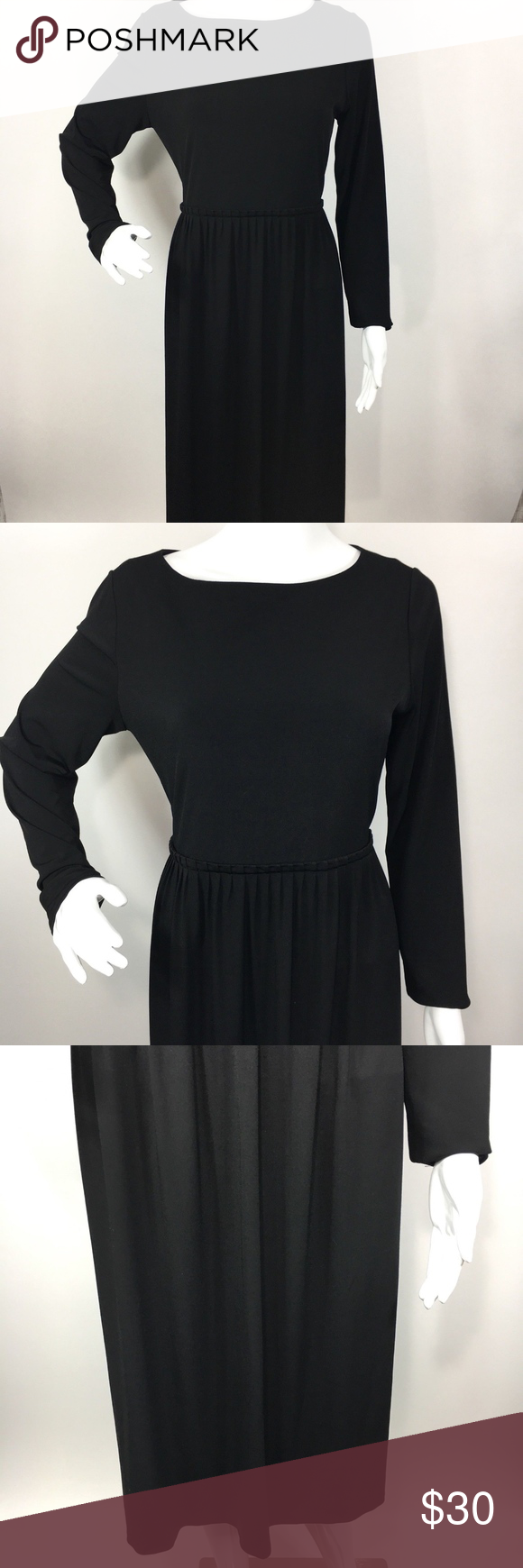 Calvin klein black long sleeve cocktail dress this item is in