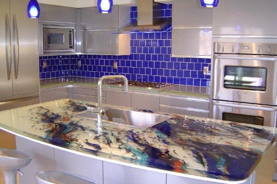 Wonderful Cool Kitchen Designs With Glass Tops By ThinkGlass