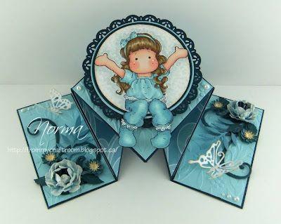 From My Craft Room Diamond Fold Card Folded Cards Fancy Fold Cards Fun Fold Cards