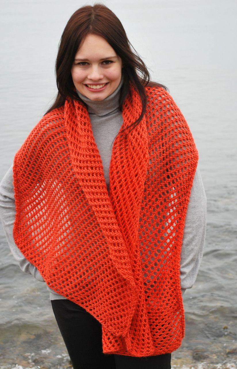 Loom Knit Lace Shawl | Knitting | Pinterest | Knit lace, Shawl and ...