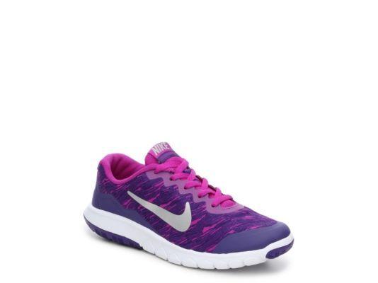 Women s Nike Flex Experience 4 Print Girls Youth Running Shoe - Purple 56fbcfcdd1