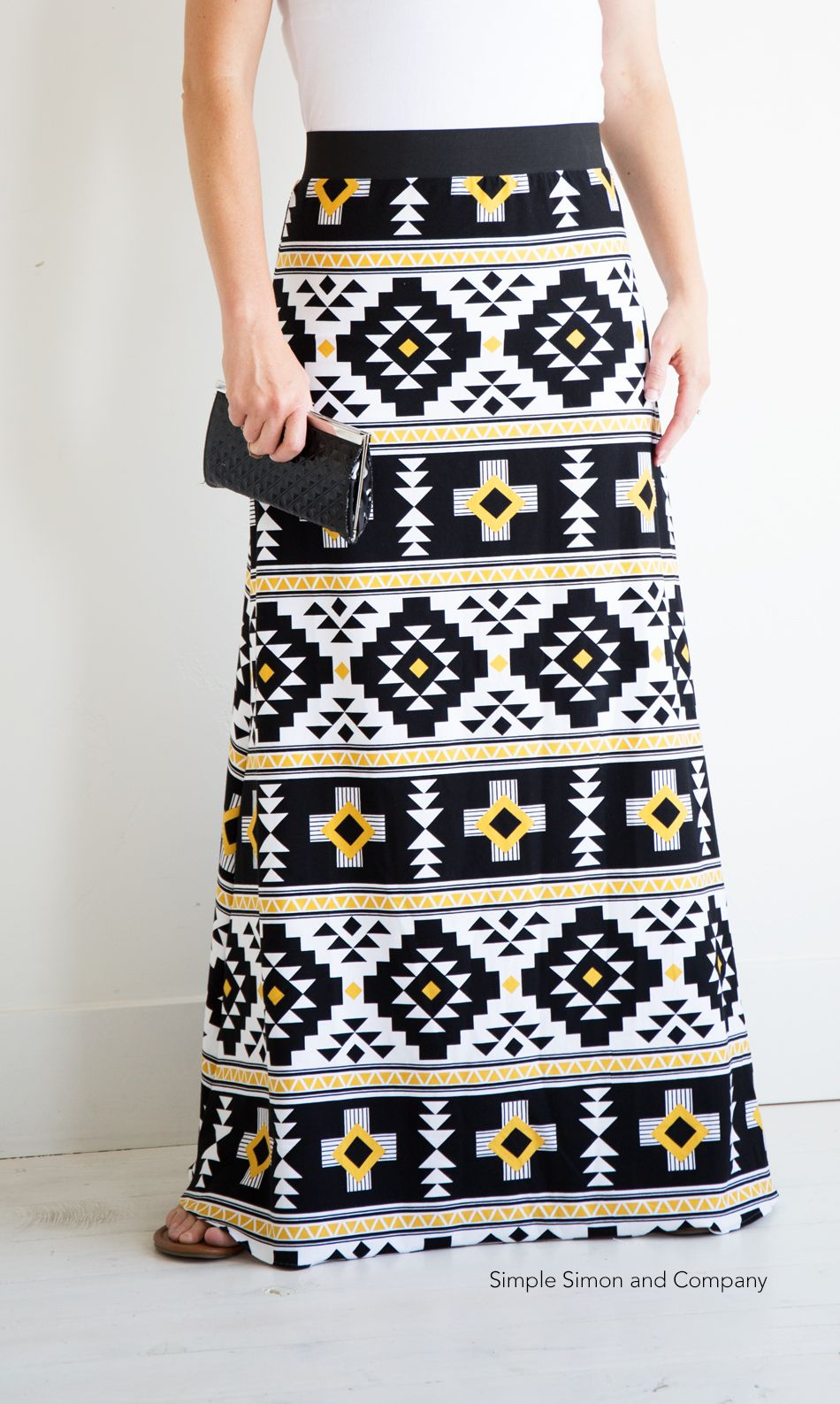 257e93678420 Simple Maxi Skirt PDF Pattern---FREE | Learn to Sew | Skirt patterns ...