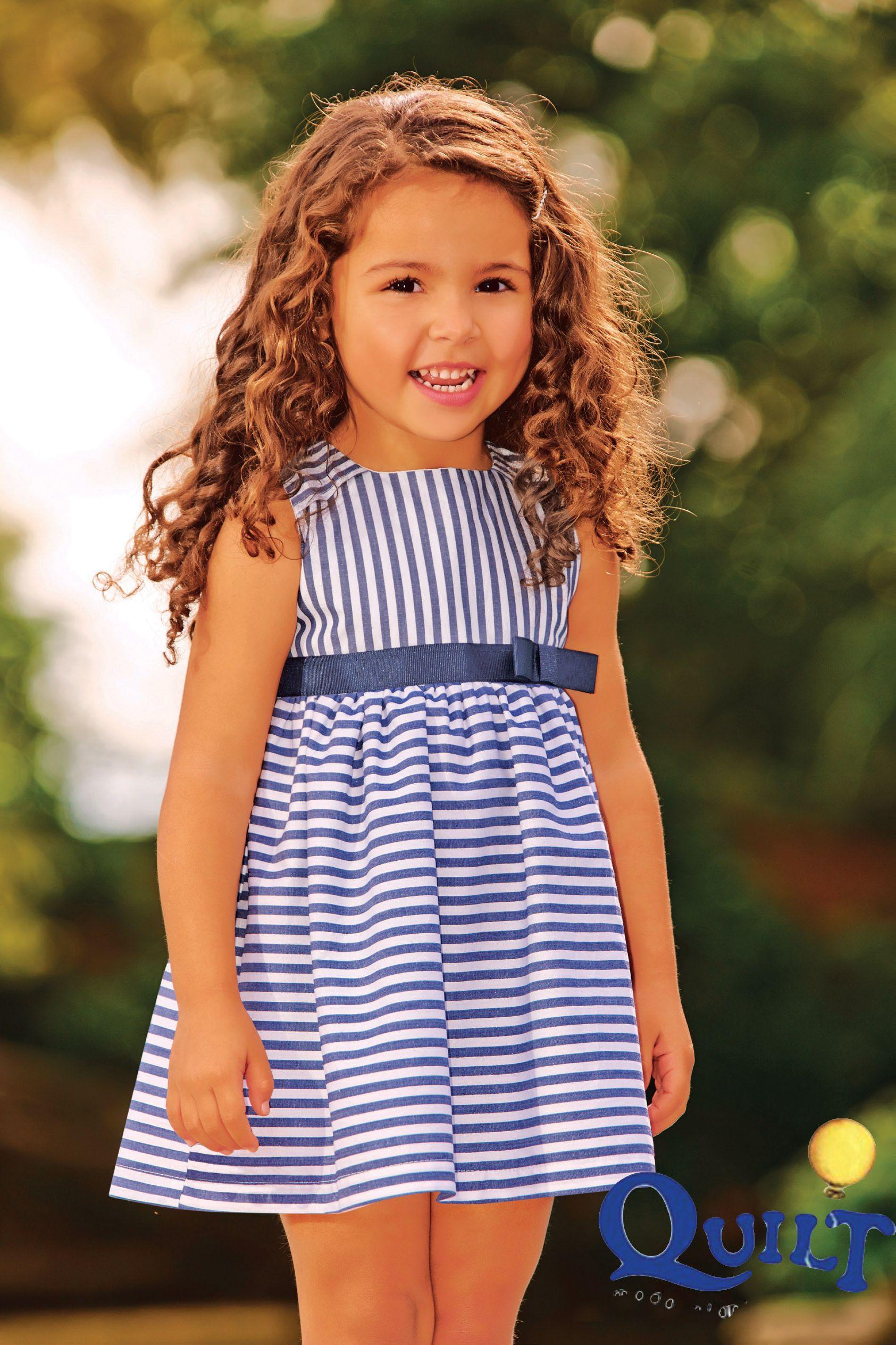 5fcebbd92 Moda Infantil - fashion kids - Vestido Listras Vrasalon em tecido tricoline  forrado, super confortavel, tamanhos 01 ao 04. Compre pela loja online > ...