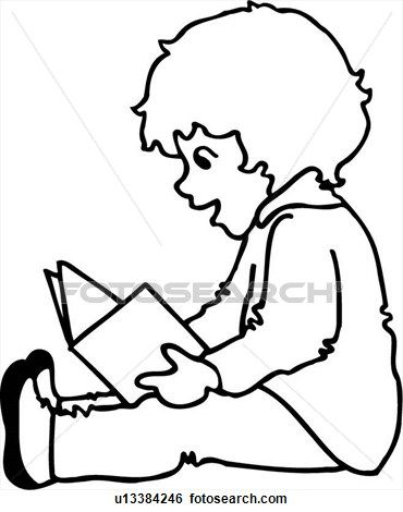 drawings of children reading buscar con google - Child Drawing Book