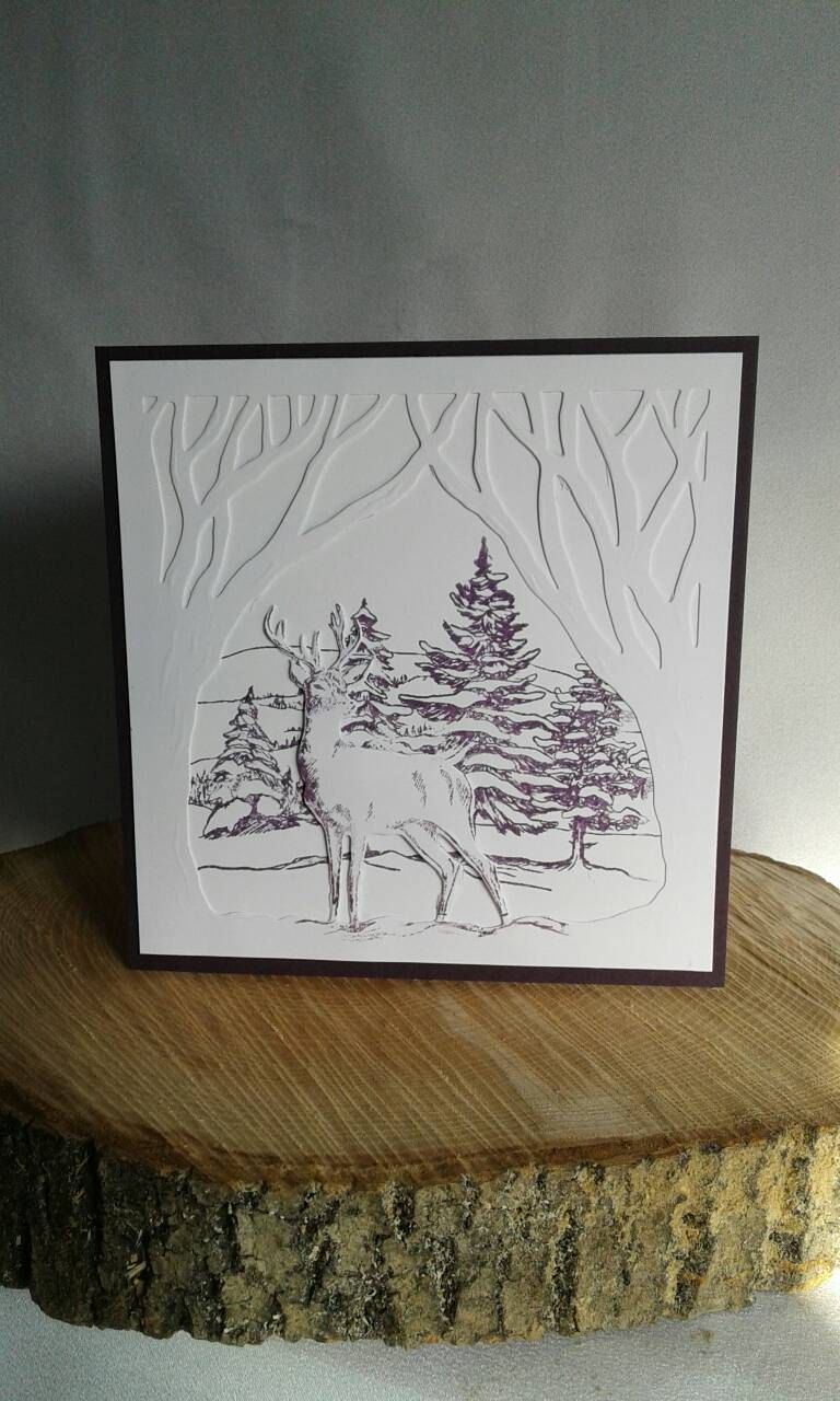 Luxury christmas card special handmade 3d reindeer xmas holiday luxury christmas card special handmade 3d reindeer xmas holiday season greetings cards white on purple card kristyandbryce Images