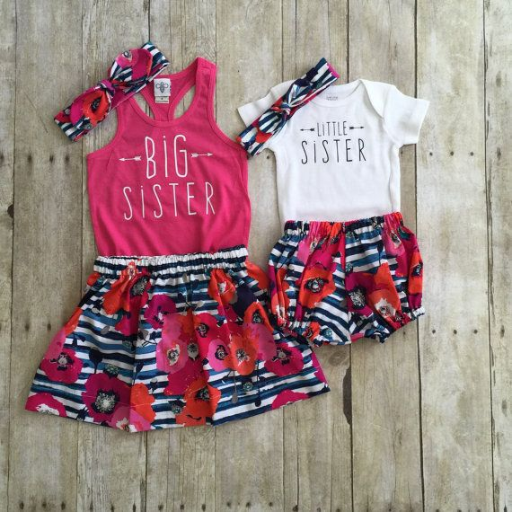 7da8f818f7c4a Big Sister Little Sister Outfits, Big Sister Shirt, Little Sister ...