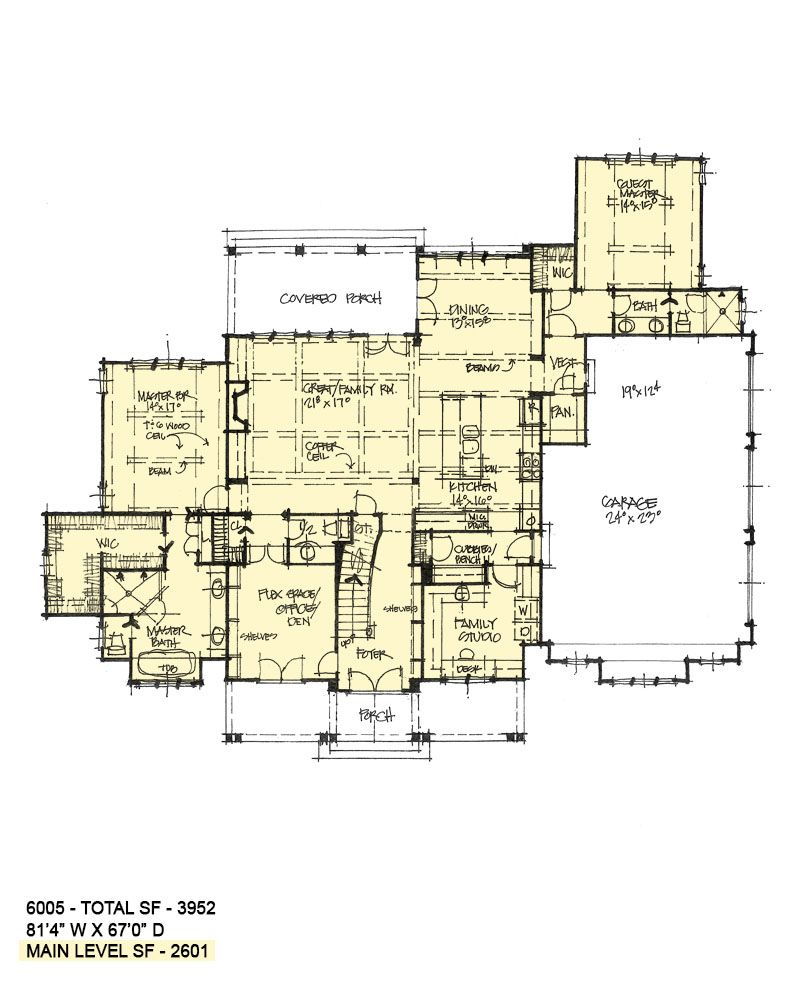 House Plan 6005 Executive Home House Plans Two Story House Plans Studio Floor Plans