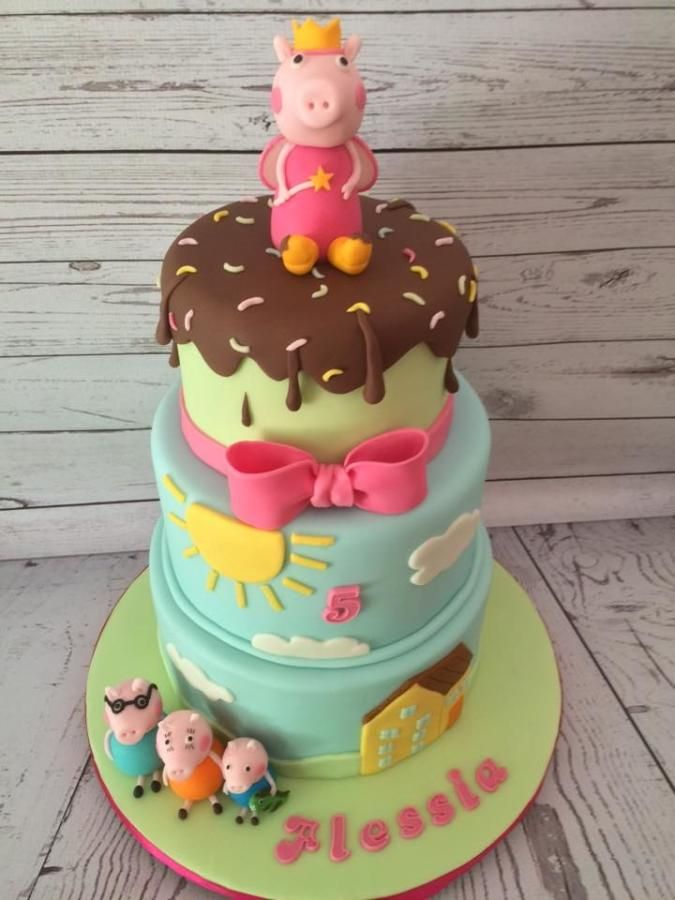Peppa Pig  Family Cake By Sweet Cakes Peppa Pig Cakes - Family birthday cake ideas