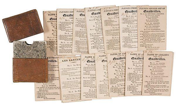 Paine Of Almack S Quadrilles 19th Century Dance Cards Cowan S Auctions Dance Regency Romance Century
