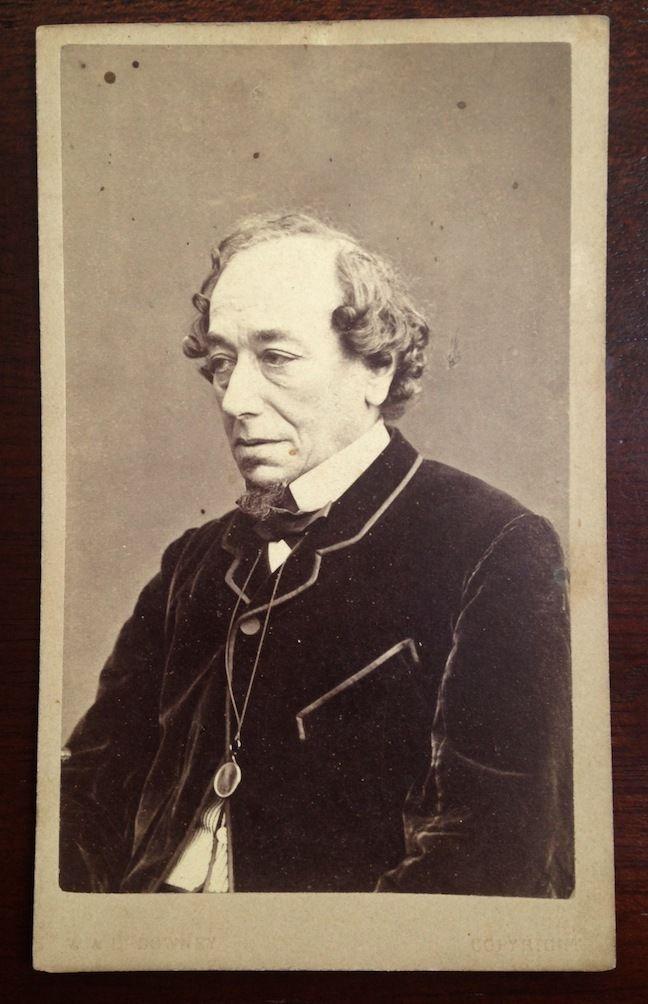 CDV Carte De Visite Photograph Of Benjamin Disraeli Prime Minister England