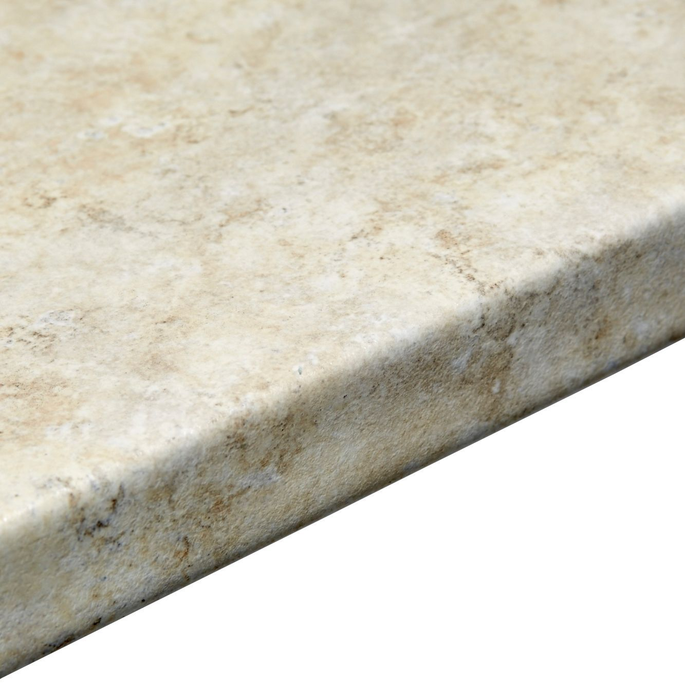 38mm B&Q Natural Stone Post Formed 3mm Kitchen Worktop (L