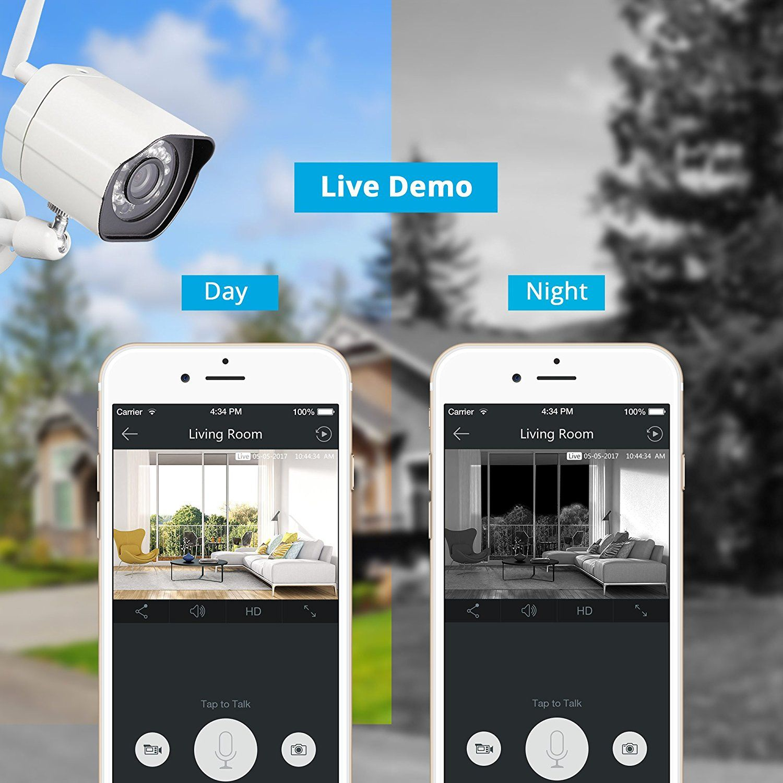 Amazon com : Zmodo Smart Wireless Security Cameras- 4 Pack