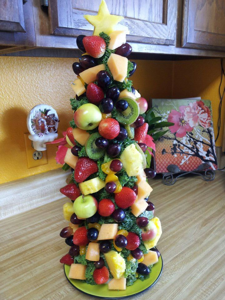 Food Ideas For Office Christmas Party Part - 32: The Fruity Fresh Christmas Tree My Daughter And I Made For My Office  Potluck. Yummm