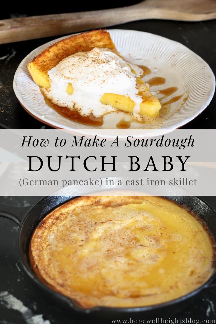 Sourdough Dutch Baby Recipe Made in a Cast Iron Skillet ...