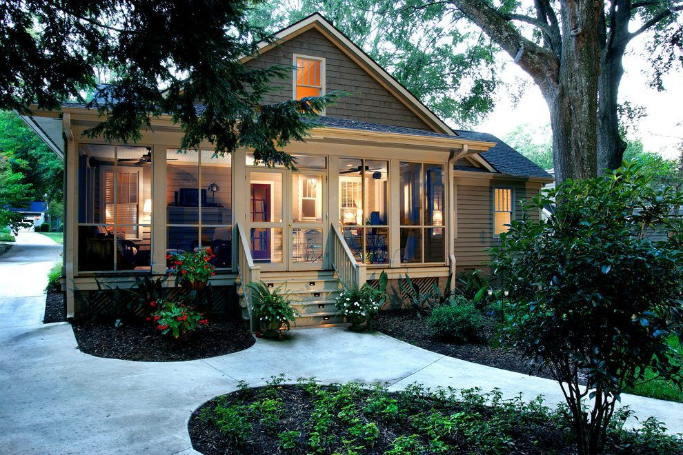Old House Enclosed Front Porches Entry Traditional Exterior