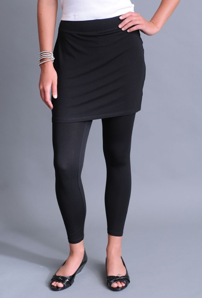 bb1593287f622 Eileen Fisher Skirted Ankle Legging in Viscose Jersey: Naturals Inc ...