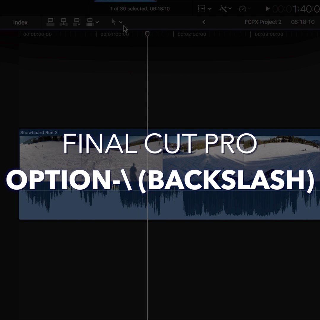 Pin On Final Cut Pro X Shortcuts