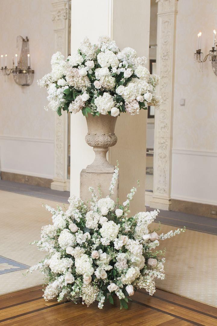 New York Wedding Celebrates Elegance With Images Wedding Ceremony Flowers Wedding Flower Arrangements Wedding Ceremony Flower Arrangements