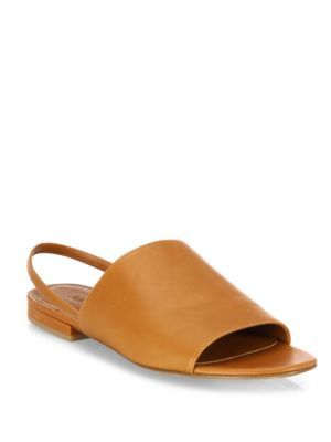 32ad0d0c4e1 VINCE Dawson Leather Flat Slingback Slides.  vince  shoes  flats