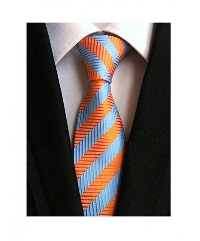 Extra Long Mircofibre Tie Woven Jacquard Blue//white Stripe Polyester XL Necktie