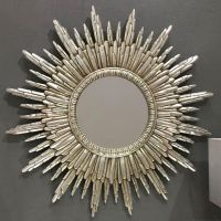 round silver sunburst wall mirror 89 x 89cm sunburst on wall mirrors id=89975