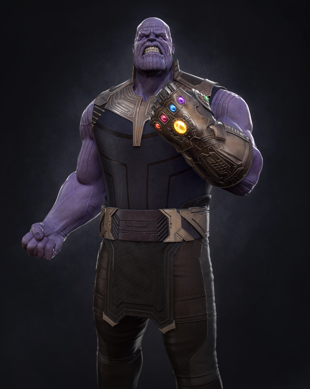 Artstation Thanos And The Infinity Gauntlet Morten Jaeger The Infinity Gauntlet Zbrush Sculpting