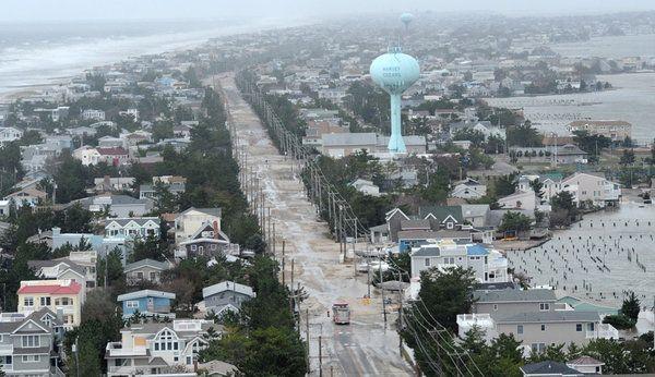Aerial Views Of Shore Devastation Aerial View Long Beach Island Shores