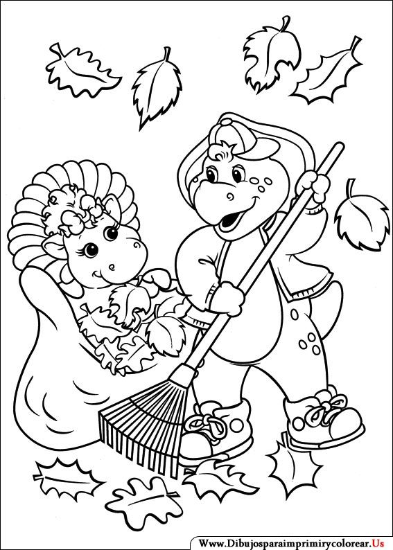 Imagenes de Barney y sus Amigos para Imprimir y Colorear | Cosas ...