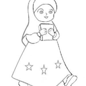 23+ Gambar Kartun Anak Perempuan Hitam Putih di 2020 | Kartun
