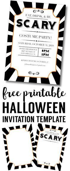halloween invitations free printable template pretty printables