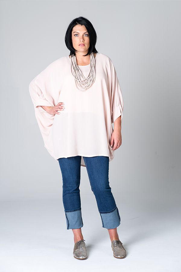 This is Meagan Kerr: Featured Designer: HALL NZ   HALL Batwing in Blush (10-24) $274; FDJ Olivia Slim Leg Jean in Delight Wash (10-18) $269