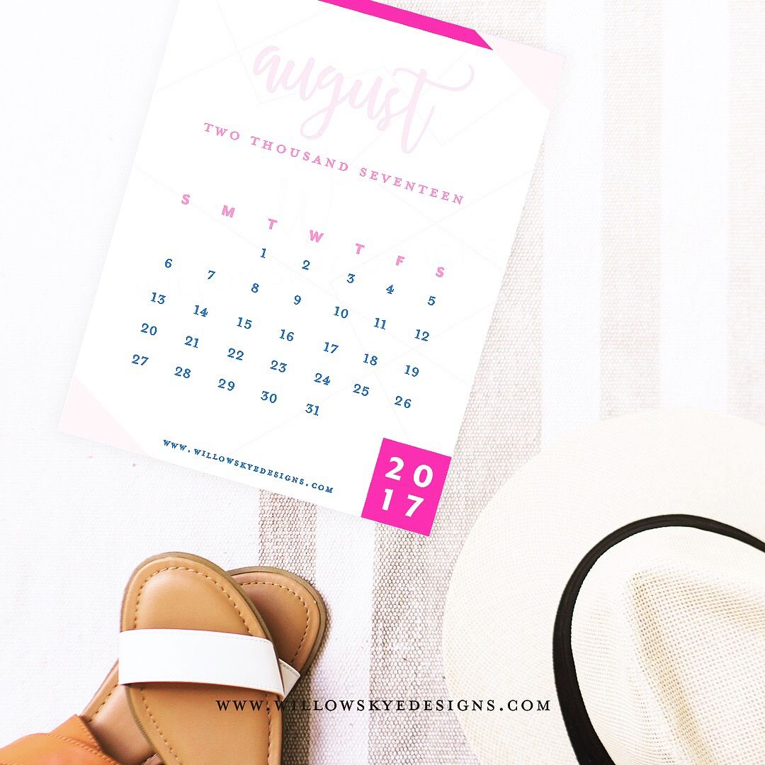 Beautiful Template August Calendar Printable Calendar Free - Instagram calendar template