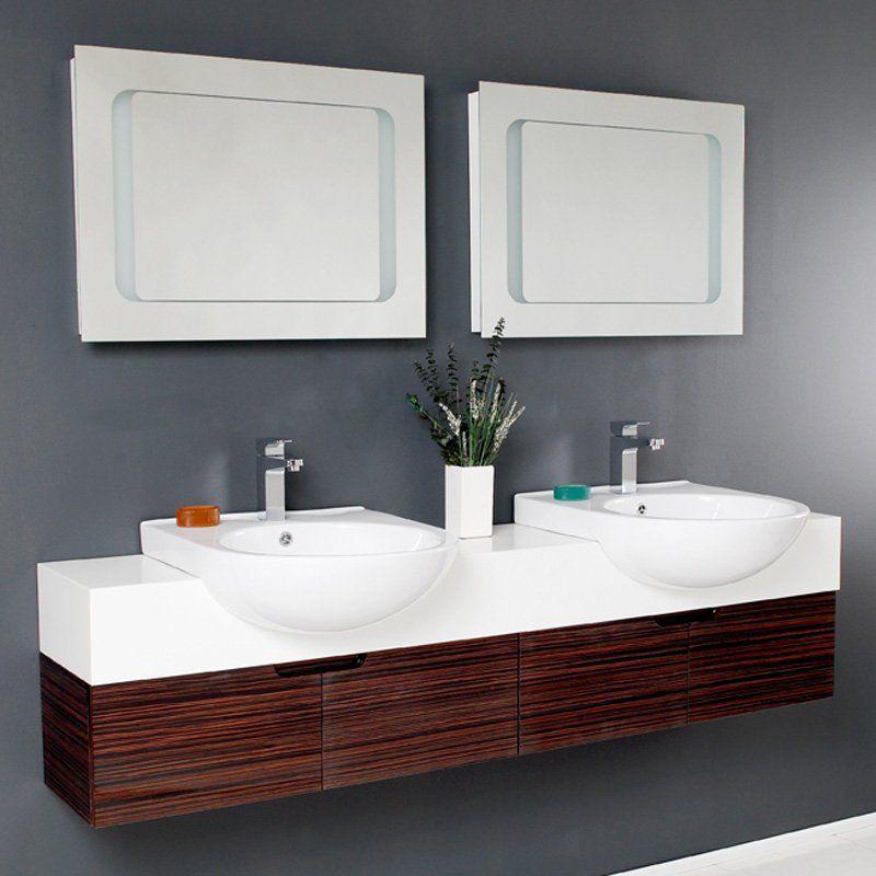 Fresca Vistoso 70 5 In Double Sink Modern Bathroom Vanity
