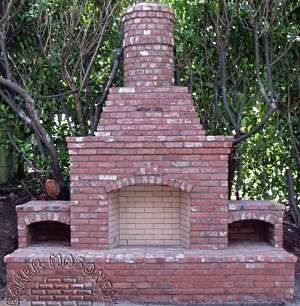 The Brick Patio Designs For Fireplaces Featured Here Are Not Only Beautiful  But Practical, As Well, Such As The Striking Brick Fireplace Pictured Above  By ...
